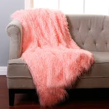 Fleece Throws For Sofas Furniture Awesome Faux Fur Throw For Your Home Accessories
