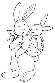 rabbits coloring pages patchwork rabbit easter