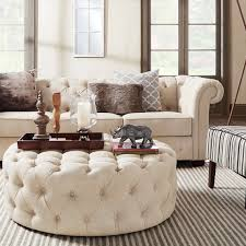 Chesterfield Sofa Living Room by Signal Hills Knightsbridge Beige Linen Tufted Scroll Arm