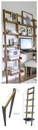 Leaning Ladder Bookcases by Ana White Leaning Ladder Wall Bookshelf Diy Projects