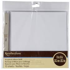 refill pages for photo albums recollections scrapbook album refill