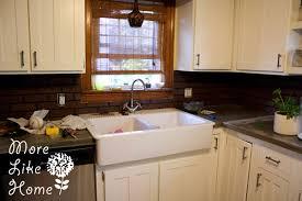 faux kitchen backsplash stunning manificent faux brick for kitchen backsplash more like