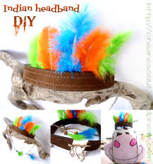 indian headband diy cowboy u0026 indian costume party pinterest