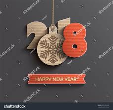 happy new year paper cards creative happy new year 2018 design stock vector 752063080