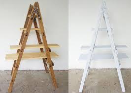 Diy Ladder Shelf Shelves Tutorials by Diy Ladder Shelf Ladder Plant Shelf For Garden