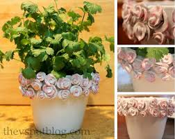 glazed ceramic pots decorative flower pot with faux glazed ceramic roses