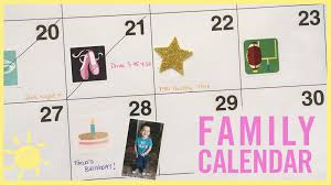 here u0027s how to make a family calendar for kids who can u0027t read yet