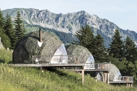 Geodesic Dome House Go Eco Friendly Glamping In These Geodesic Domes In The Swiss Alps