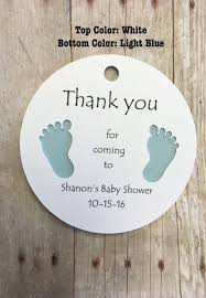 thank you tags gift tags with baby thank you for coming baby shower