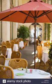 Outdoor Tablecloths For Umbrella Tables by California Santa Barbara Umbrellas Over Tables Outdoor Sidewalk