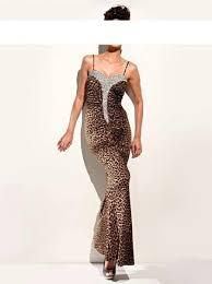 abendkleid designer abendkleid leo look mit silber pailletten und strass