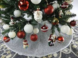 decoration tree skirt with sequins green and gold tree skirt