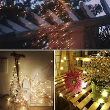 Patio Party Decorations Moobibear 66ft Outdoor Dimmable Led String Lights Copper Wire