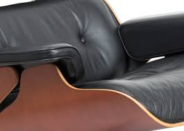 Eames Leather Lounge Chair Vitra Eames Lounge Chair New Black Leather U0026 Cherry