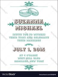 Invitation Card Picture Wedding Invitation Card Royalty Free Vector Image