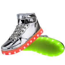 led light up shoes for adults women high top usb charging led light up shoes flashing sneakers