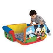 mickey mouse clubhouse flip open sofa with slumber marshmallow furniture children s 2 in 1 flip open foam sofa disney