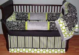 Black And White Crib Bedding For Boys Bedroom Design Distinctive Circles Crib Bumper Design For Baby