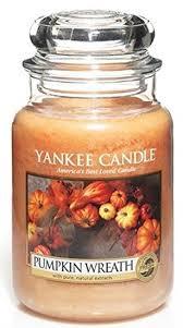 yankee candle pumpkin wreath large jar candle fresh