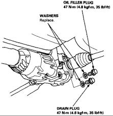 rear differential honda crv how do you chang rear differential fluid in a 1999 honda crv