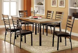amazon com furniture of america naga industrial dining table