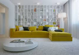 bright floor l for living room living room a giant yellow sofa in a big and bright book corner