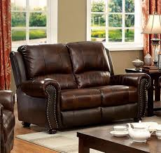 Brown Leather Loveseat Sofa Cm6191 In Brown Leather Match W Recliners U0026 Options