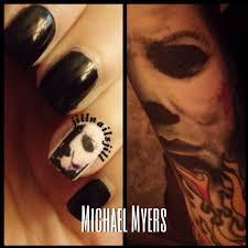 michael myers nail art tattoo nails pinterest