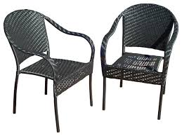 Wicker Armchair Outdoor Livingston Outdoor Black Wicker Chairs Set Of 2 Transitional