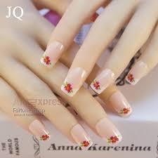 aliexpress com buy jq 24pcs pre design acrylic nail tips false