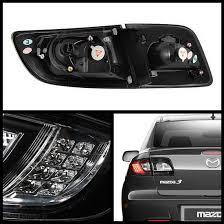 mazda 3 tail lights 2008 mazda 3 sedan black housing led tail lights