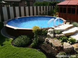 Backyard Landscaping Ideas With Above Ground Pool Astonishing Above Ground Pool Landscape Designs Interior Or Other