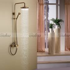 Antique Brass Bathroom Faucet by Wall Mounted Brass Bronze Bathroom Shower Set Antique Shower Head