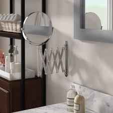 wall mounted extendable mirror bathroom makeup shaving mirrors you ll love wayfair