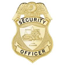security officer breast badge with lion
