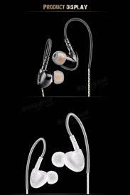 qkz c6 in ear sport heavy bass hifi sound waterproof headphones