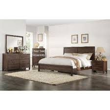 Rustic Contemporary Chocolate Brown  Piece King Bedroom Set - Bedroom sets at rc willey