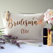 bridesmaid bag personalised bridesmaid make up bag by the alphabet gift shop