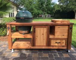 kamado joe grill table plans bare bones grill chill table for big green egg kamado joe or