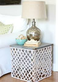 Target Side Table by Target Summer Basket Becomes A Chic Side Table Hymns And Verses