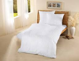hotel organic cotton satin stripe duvet cover white fou