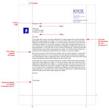 Business Letter Heading Template by Stationery System Graphic Identities Standards Knox College