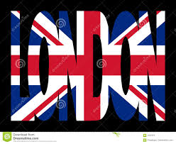 london text with british flag stock images image 12297454