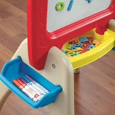 Step 2 Desk Easel Amazon Com Step2 All Around Easel For Two Red Yellow Tan Toys
