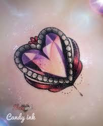 diamond tattoo neo traditional crystal diamond heart girly tattoo neo traditional tats