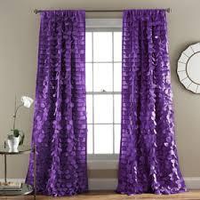 Lush Decor Purple 84 inch Ruffle Curtain Panel Overstock