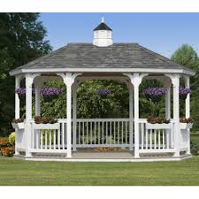 White Vinyl Pergola Kits by Pergola Design Ideas White Vinyl Pergola Kits 9ft 9inch H X 16ft