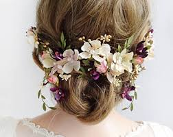 flower hair the honeycombbridal flower crowns hair combs by thehoneycomb