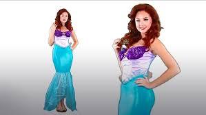 Princess Ariel Halloween Costume Womens Disney Undersea Ariel Costume