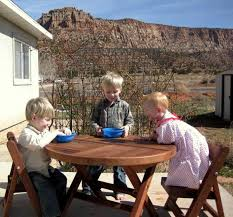 Round Redwood Picnic Table by Round Folding Wood Tables For Kids Forever Redwood